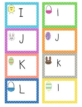 Easter Uppercase/Lowercase Alphabet Matching