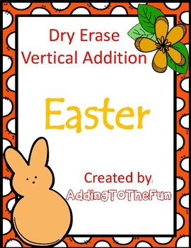 Easter ~ Vertical Addition Dry Erase Cards