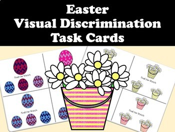 Easter- Visual Discrimination Task Cards