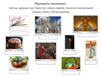 Ukrainian Easter Vocabulary (A1-A2)