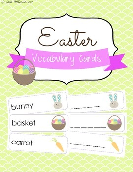 Easter Vocabulary Cards and Spelling Practice