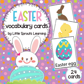 Easter Vocabulary Cards (24 cards)