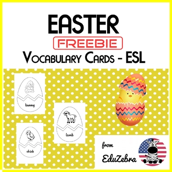 Easter Vocabulary Cards - ESL