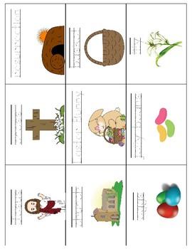 Easter Vocabulary Cards - Great for ESL/ENL