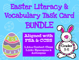 Easter Vocabulary Task Card BUNDLE - Aligned with FSA & CCSS
