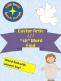 """Easter Vocabulary Word Find Articulation """"SH"""" Words * NO P"""