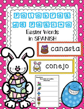 Easter Vocabulary Words in Spanish - Palabras de Pascua