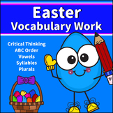 Easter Vocabulary Work for 1st and 2nd Grades