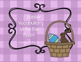 Easter Vocabulary Write the Room