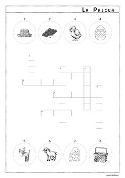 Easter Vocabulary in Spanish - El vocabulario de la Pascua - Activity Pack