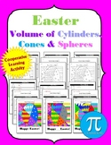 Easter Volume Cones, Cylinders, and Spheres Activity