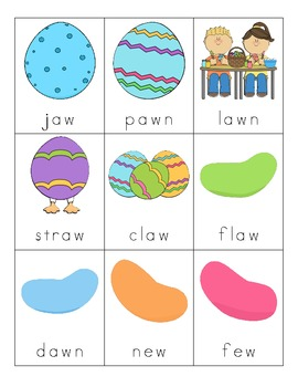 Easter Vowel Digraph Cards