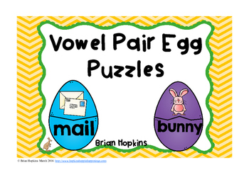 Easter Vowel Pairs Puzzles