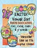 Easter Vowel Sort Game | short vowel, long vowel, y sounds, cvc, cvce, cvec