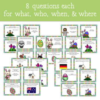 Easter WH- Questions Game