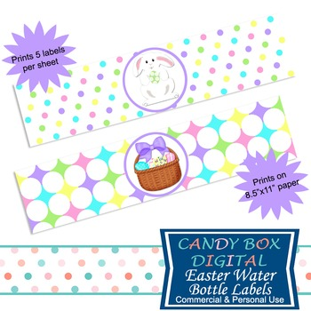 Easter Water Bottle Labels, Easter Napkin Rings