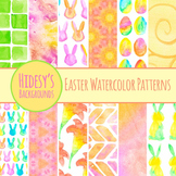Easter Watercolor Background Hand Painted  - Commercial Us