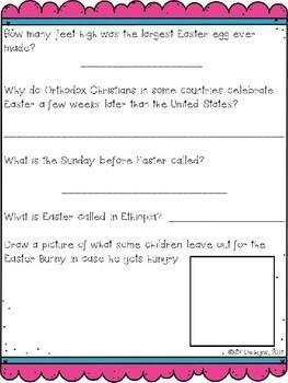 Easter WebQuest - Engaging Internet Activity {Includes Google Slides option}