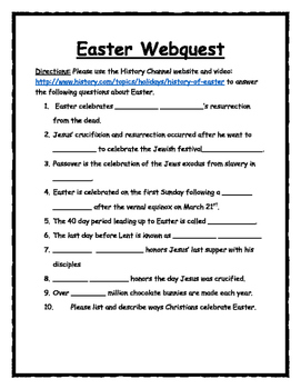History of Easter Webquest