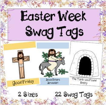 Easter Week Swag Tags