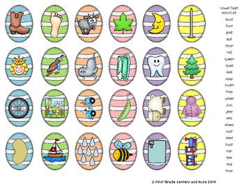 Easter Word Building Center Short Vowels, Silent e, Vowel Teams