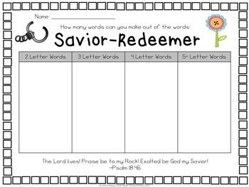 Easter Word Hunts {with Scripture Verses}