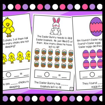 Easter Word Problem Mini Books! Addition and Subtraction within 10 and within 20