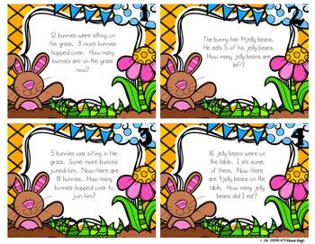 Easter Word Problem Task Cards & Game Board (K-2)