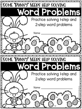 Easter Word Problems Booklet FREEBIE
