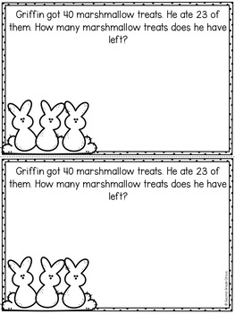 Easter Word Problems Booklet FREEBIE