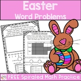 First Grade Easter Word Problems Free