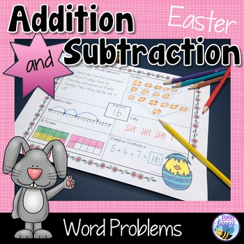 Easter Math Word Problems - Think Boards