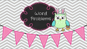 Google Slides Easter Word Problems: Interactive Practice