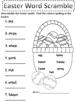 Easter Word Scramble