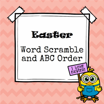 Easter Word Scramble and ABC Order Cut and Paste