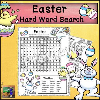 Easter Word Search *Hard