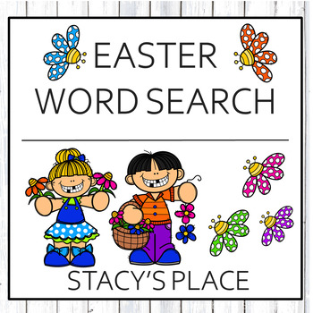 English Easter Word Search Puzzle (Secular)