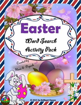 Easter Word Search Puzzle Worksheets