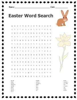 Easter Word Search Secular Non-Religious