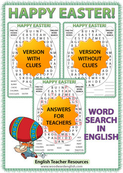 Easter Word Search in English
