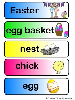 Easter Word Wall Cards