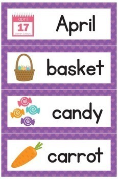 Easter Word Wall Cards - 28 words
