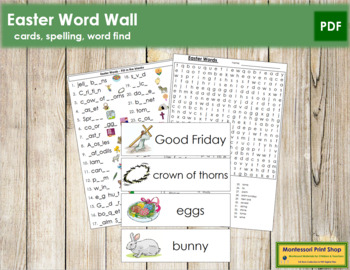 Easter Word Wall Cards, Plus!