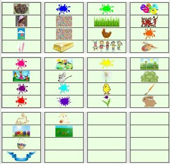 Easter Word Wall/Pocket Chart Cards With Pictures