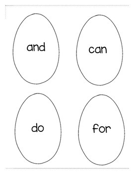 Easter Word Wall Word Egg Hunt