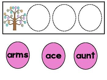 Easter Word Work Activities/Literacy Centers