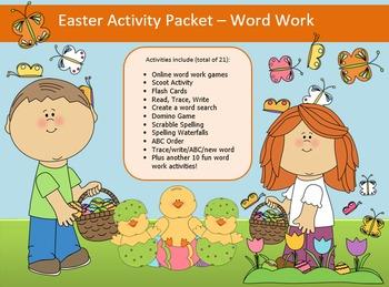 Easter Word Work Packet – 15 words, no prep spelling packe