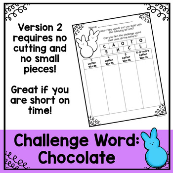 Easter Word Work and Literacy Center Activity