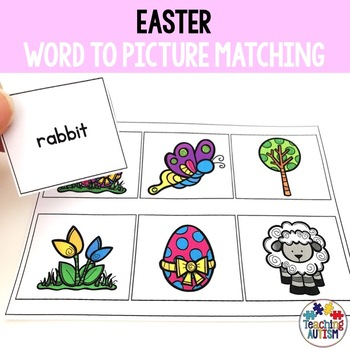 Word to Picture Matching, Easter Activities