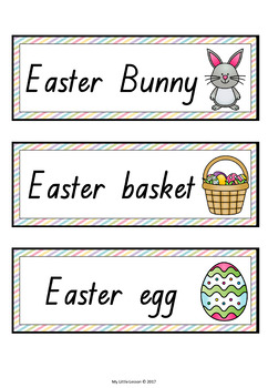 Easter Word Cards QLD Beginners Font